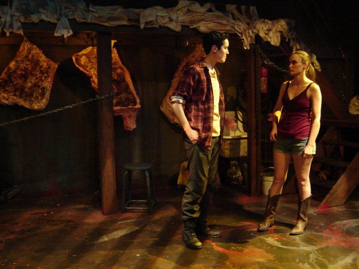 Noelle Messier as Cod in Slaughter City directed by Barbara Kallir at the Son of Semele Ensemble Theater in 2010 in Los Angeles