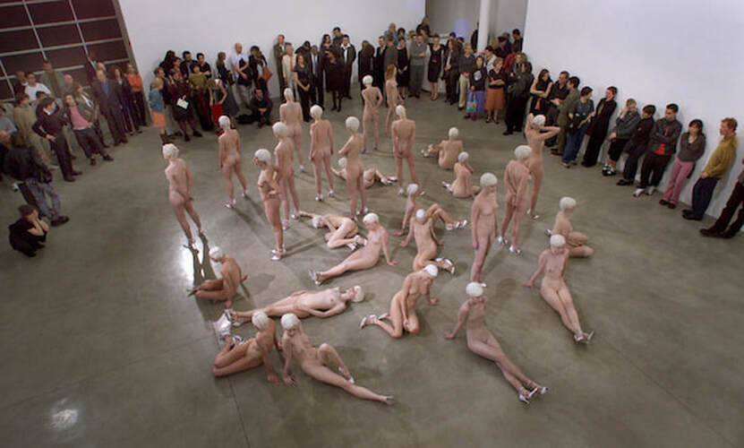 Noelle Messier in Vanessa Beecroft Exhibit, Gagosian Gallery, 2009
