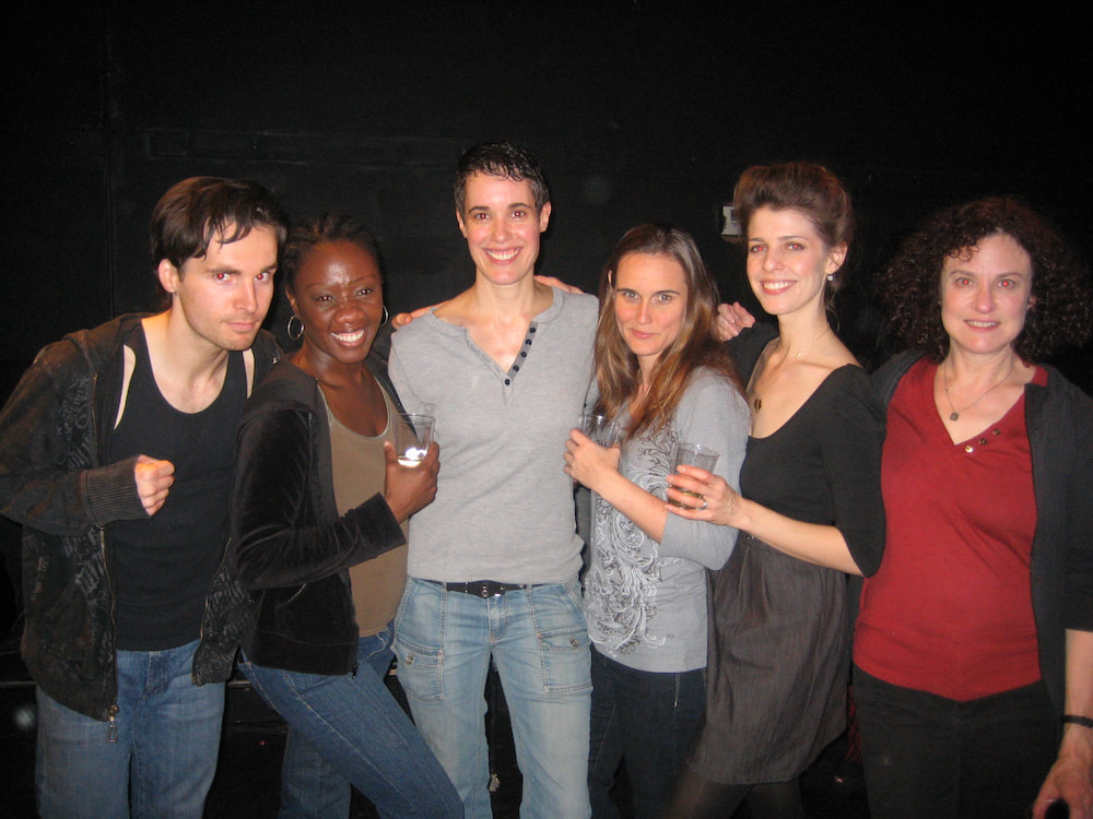 Noelle Messier and cast of Slaughter City with director Barbara Kallir at the Son of Semele Ensemble Theater in 2010 in Los Angeles